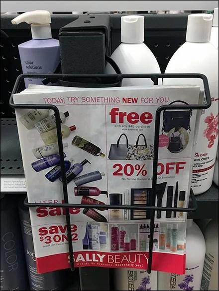 Beauty Supplies Flyer Literature-Holder