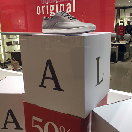 Dimensional Sale Sign Cube Stacks