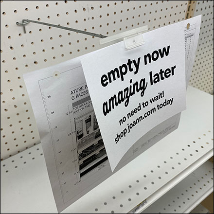 Empty-Now Amazing-Later Pegboard Sign