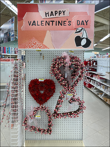 Top-Selling Valentine's Day Wreath Endcap