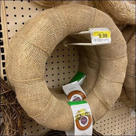 Wreath Blank Flip-Front Scan-Hook