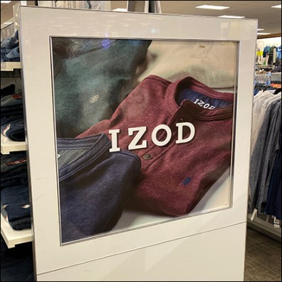 Izod Slacks Display Billboards HenleysIzod Slacks Display Billboards Henleys