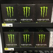 Monster Energy-Drink Mahogany Display