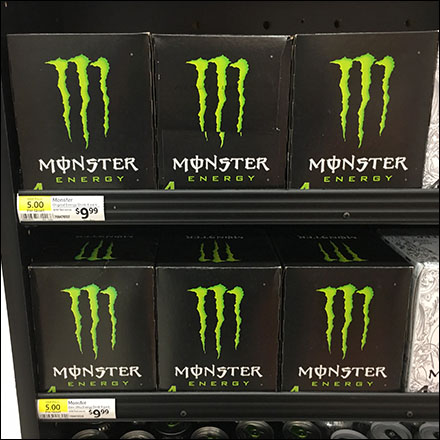 Monster Energy-Drink Mahogany Display