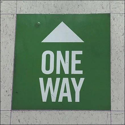 One-Way Floor-Graphic Traffic Control
