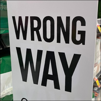 Wrong-Way Aisle-Violator Traffic Control