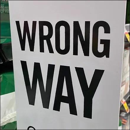 Wrong-Way Aisle-Violator Traffic Control