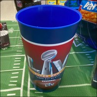 Party-City Super-Bowl Festive Partyware Closeup