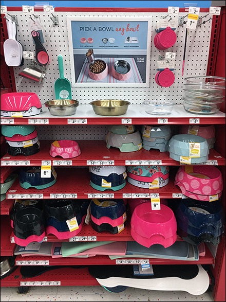 Pick-Any-Bowl Endcap Pet Merchandising