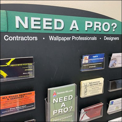 Need-A-Pro Business Card Board