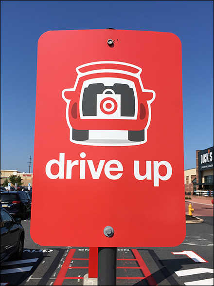 Drive-Up Pickup Loading Zone Signs