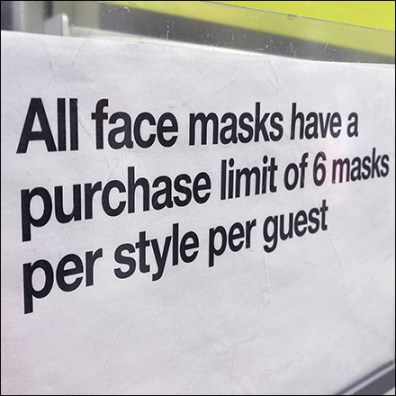 Face Mask Quantity Limit by Style