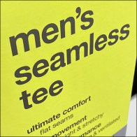 Men's Seamless T-Shirt Upright Sign