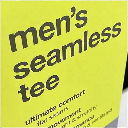 Men's Seamless T-Shirt Upright Sign