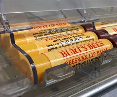 Burts Bees Gravity-Feed Lip-Balm Display