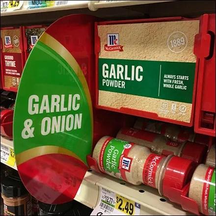 Weis McCormick Garlic Powder Auto-Feed Promo-Flag Square1