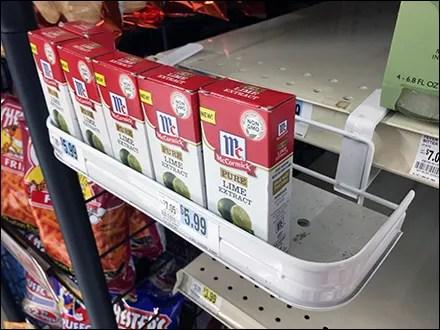 McCormick Non-GMO Lime Shelf-Edge Tray
