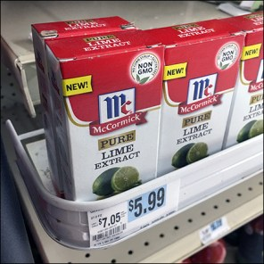 McCormick Non-GMO Lime Shelf-Edge Tray