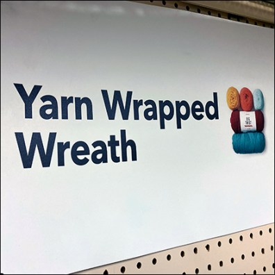 Yarn-Wrapped Wreath Pegboard DisplayYarn-Wrapped Wreath Pegboard Display