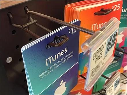 iTunes Gift-Card Flip-Front Loop-Hook