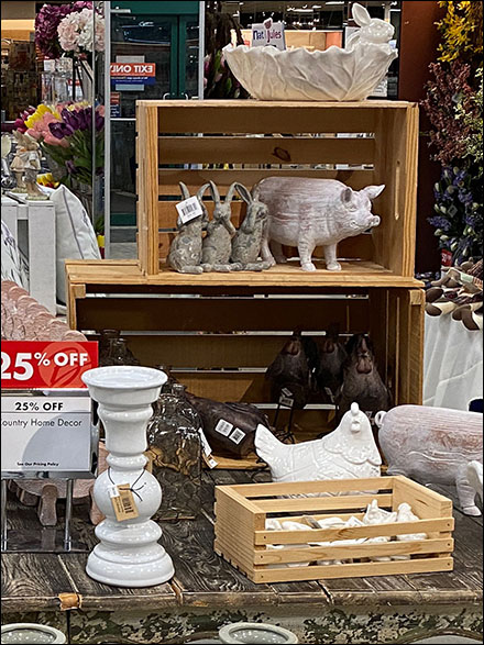 Country-Home Barnyard Wood-Crate Staging