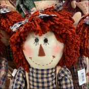 Country-Home Raggedy Ann Doorstops