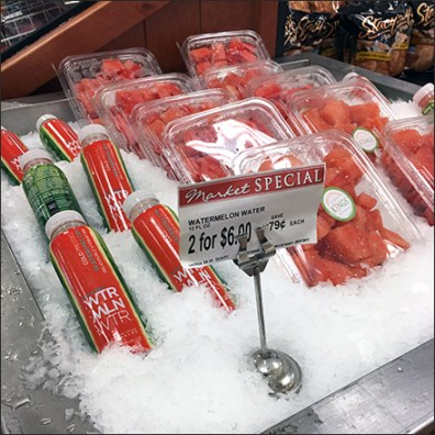 Iced Watermelon Water And Watermelon Adjacency