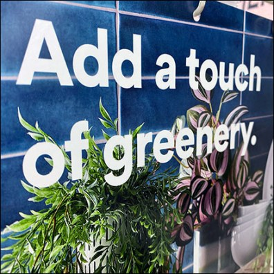 Add-Greenery Gondola Upright Sign