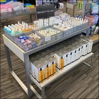 Nordstrom-Rack Beauty-To-Go Fenced Island Display