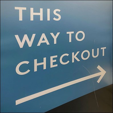 Nordstrom-Rack Freestanding Checkout Directional Sign