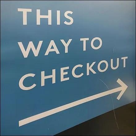 Nordstrom-Rack Freestanding Checkout Directional Sign