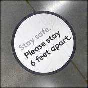 Nordstrom-Rack Stay-Safe Stay-6-Feet-Apart Floor Graphic