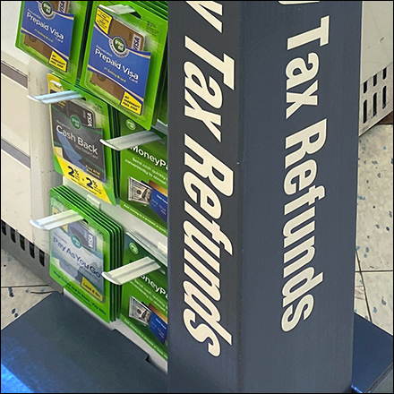 Fast-and-Easy Tax-Refunds Tower Display
