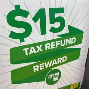 $15 Tax-Refund Reward Offer