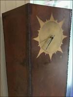 Rust-Finish Industrial Chic Lobby Clock