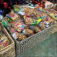 Ethnic Wicker Basket Floor Display