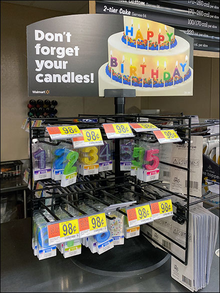 Don't-Forget-Candles Happy Birthday Display
