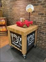 Ultimate-Cookie Butcher-Block Table Display