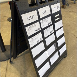 Costco Out-of-Stock Sidewalk Sign Easel