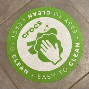 Crocs Easy-Clean Floor Graphic Promotion