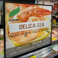 Delica-Sea Shrimp Seafood Sign