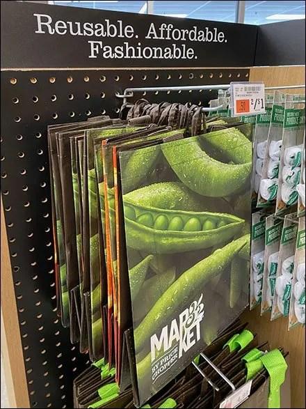 Market 32 Shopping Bag FISH-Tip Hooks