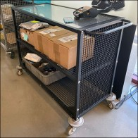 Nordstrom Rack Glass-Top Transport Cart