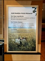 Panera Bread Food Promise in Writing