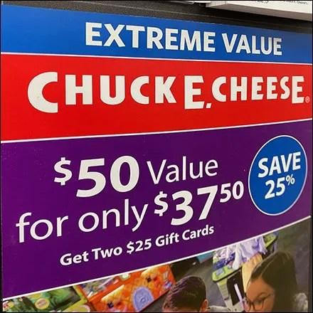 Chuck-E-Cheese Padded Pick Card
