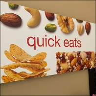 Quick-Eats Wall-Mount Open-Wire Snack Rack
