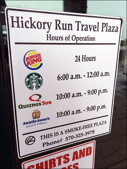Highway Service Retail Fixtures - Travel Plaza Food Court Hours of Operation