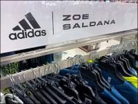 Adidas Zoe-Saldana Apparel Rack