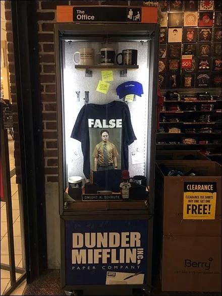 Dunder Mifflin Museum Case Display