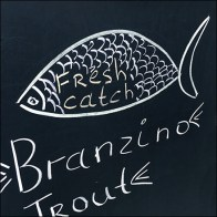 Chalkboard Catch-Of-The-Day Fish Choices